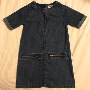 Girl's 5T Old Navy denim jean chambray shift dress